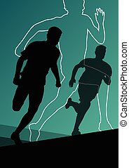 Active men runner sport athletics