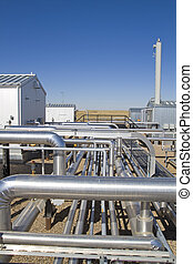 Active Natural Gas Compressor - Buildings, pipelines and...