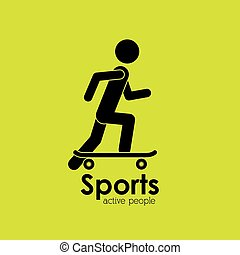 active people design, vector illustration eps10 graphic