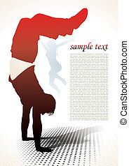 active people silhouettes background