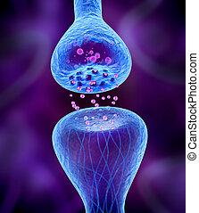 Active receptor isolated on blue