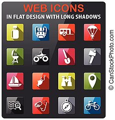 active recreation icon set - active recreation icons set in...
