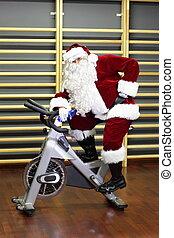 Santa Claus break in training - active Santa Claus break in...