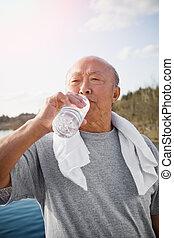 Active senior asian