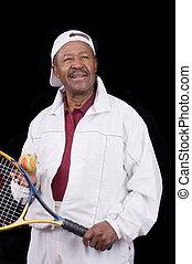 Active senior citizen - Active Black senior citizen ready...