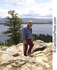 Active Senior  hiker 1