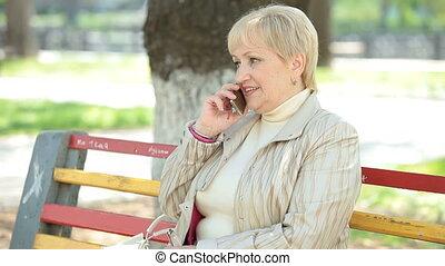 Senior Lady On The Phone
