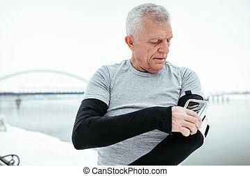 Active Senior Man