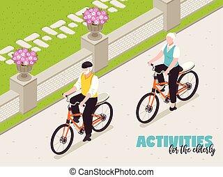 Active Senior People Background