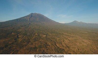 Active volcano Gunung Agung in Bali, Indonesia. - Aerial ...