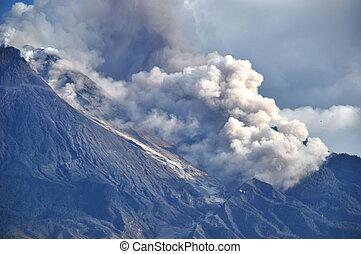 Active Volcano - Java - Indonesia