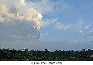 Active Volcanoe Mount Merapi