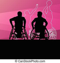 Active young disabled men