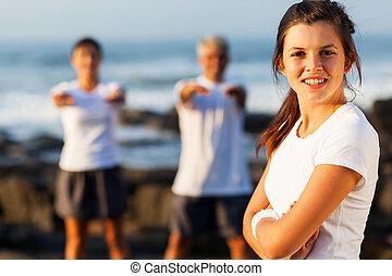 active young teenage girl posing