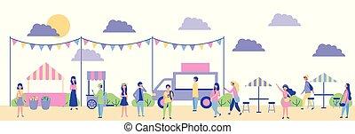 actividades, al aire libre, gente