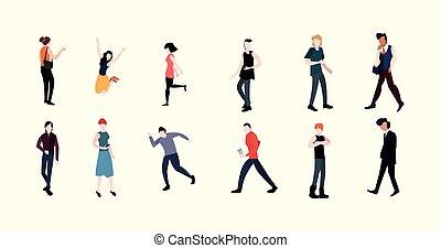 actividades, concepto, gente