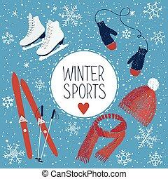 actividades, deportes del invierno
