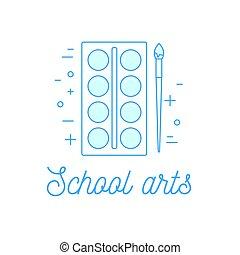 actividades, escuela, ilustración