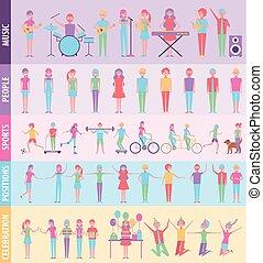 actividades, infographic, gente