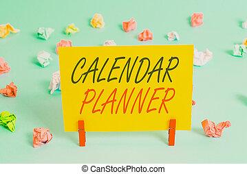 activités, complété, rectangle, devoir, bleu, chiffonné, calendrier, signe, coloré, planner., rappel, texte, photo, horaire, ou, papier, lumière, projection, arrière-plan., être, formé, conceptuel, tâche