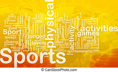 activités, concept, fond, sports
