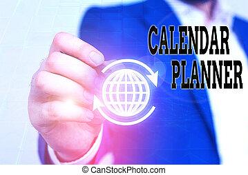 activités, devoir, tâche, être, écriture, completed., horaire, showcasing, projection, calendrier, ou, planner., photo, note, business