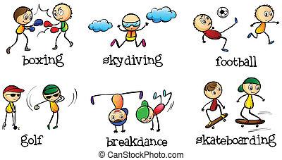 activités, extérieur, être, intérieur, fait, boîte