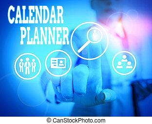 activités, mot, devoir, tâche, être, écriture, completed., horaire, texte, ou, calendrier, concept, planner., business