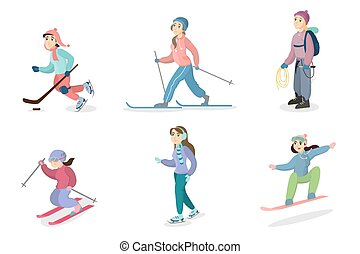activités, set., hiver