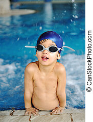 activités, sur, les, piscine, enfants, natation, et, jouer, dans, eau, bonheur, et, été