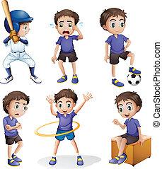 activiteiten, anders, jonge jongen