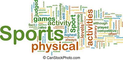activiteiten, concept, achtergrond, sporten