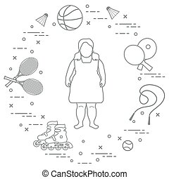 activities., equipment., grasa, deportes, niña, niños