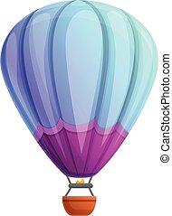 Activity air balloon icon, cartoon style