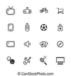 Activity and entertainment icons