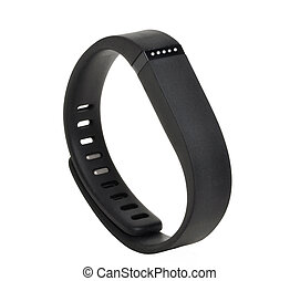 Activity fitness tracker on white background