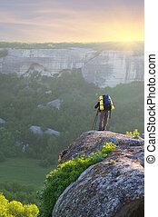 activity., mountain., touriste, loisir, homme