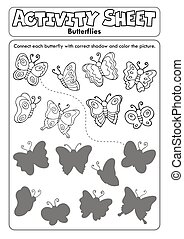 Activity sheet butterflies 1 - eps10 vector illustration.