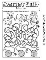 Activity sheet cat theme 1 - eps10 vector illustration.