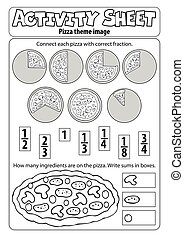 Activity sheet pizza theme 1 - eps10 vector illustration.