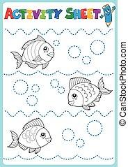 Activity sheet topic image 1 - eps10 vector illustration.