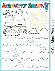 Activity sheet topic image 2 - eps10 vector illustration.