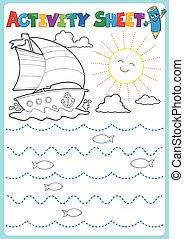 Activity sheet topic image 2 - eps10 vector illustration.