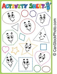 Activity sheet topic image 3 - eps10 vector illustration.