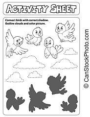 Activity sheet topic image 6 - eps10 vector illustration.