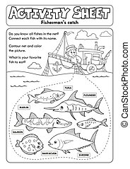 Activity sheet topic image 8 - eps10 vector illustration.
