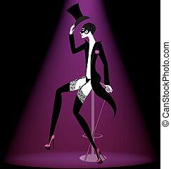 actor cabaret in black