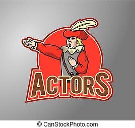 Actor costume illustration