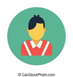 actor flat icon