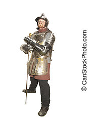Actor in historical enactment - Man in an Historical ...
